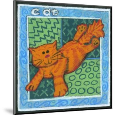 Whimsical Cat--Mounted Art Print