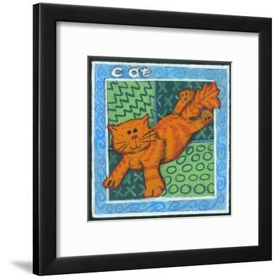 Whimsical Cat--Framed Art Print