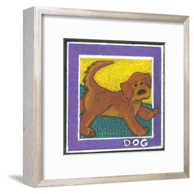 Whimsical Dog--Framed Art Print