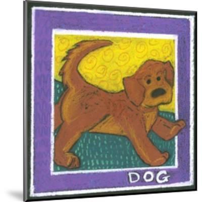 Whimsical Dog--Mounted Art Print