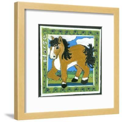 Whimsical Horse--Framed Art Print