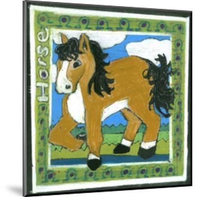 Whimsical Horse--Mounted Art Print