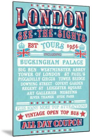 London Tours '54-The Vintage Collection-Mounted Art Print