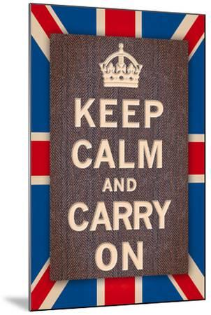 Keep Calm Britain-The Vintage Collection-Mounted Art Print