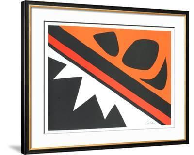 La Grenouille et la Scie-Alexander Calder-Framed Art Print