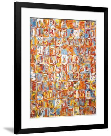 Numbers in Color-Jasper Johns-Framed Art Print
