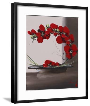 Plume Orchid II-Olivier Tramoni-Framed Art Print