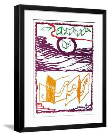 Sous L'Oeil Et La Plume-Pierre Alechinsky-Framed Limited Edition