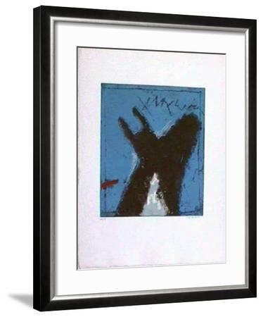 Connexions III Bleu-James Coignard-Framed Limited Edition