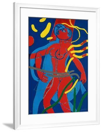Jeux De L'Air Et De L'Eau II-Guillaume Corneille-Framed Limited Edition