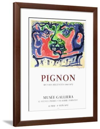 Tête de guerrier-Edouard Pignon-Framed Collectable Print