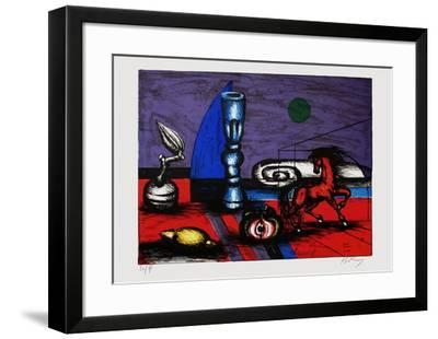 Cheval rouge-Franz Priking-Framed Limited Edition