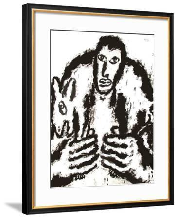 Homme Et Chien I-Pavlos Habidis-Framed Limited Edition