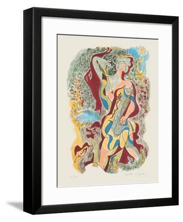 Sonnets De Louise Labbé 04-Andr? Masson-Framed Limited Edition