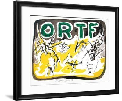 Soutien à l'ORTF-Edouard Pignon-Framed Premium Edition
