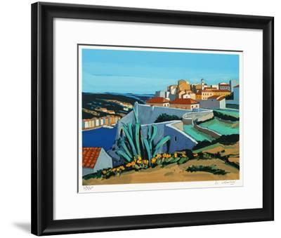 En Méditerranée : paysage à Bonifacio-Jean Claude Quilici-Framed Limited Edition