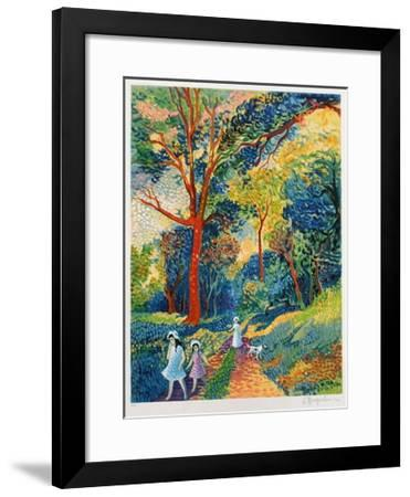 Promenade En Forêt-Lucien Neuquelman-Framed Collectable Print
