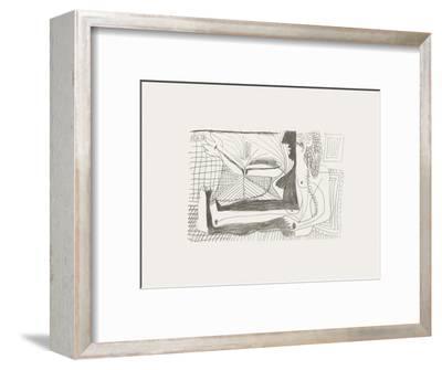 Le Goût du Bonheur 02-Pablo Picasso-Framed Serigraph