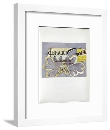 AF 1952 - Galerie Maeght-Georges Braque-Framed Collectable Print