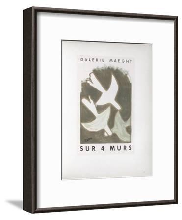 AF 1956 - Galerie Maeght Sur 4 Murs-Georges Braque-Framed Collectable Print