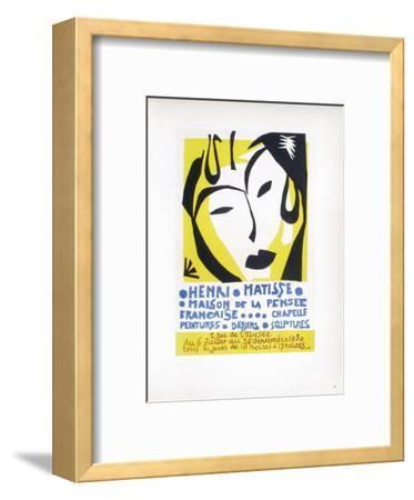 AF 1950 - Maison De La Pensée Française-Henri Matisse-Framed Collectable Print