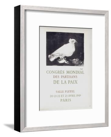 AF 1949 - Congres Mondial des Partisans de la Paix-Pablo Picasso-Framed Collectable Print