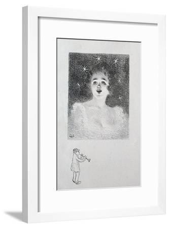 Jeune fille-Adolphe Willette-Framed Art Print