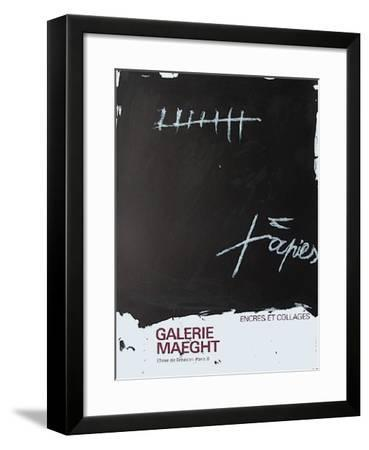Expo Encres et collages-Antoni Tapies-Framed Collectable Print