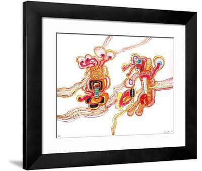 Composition psychédélique-Guy Roussille-Framed Collectable Print