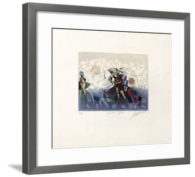 Herbe Bleue-Georges Dussau-Framed Limited Edition
