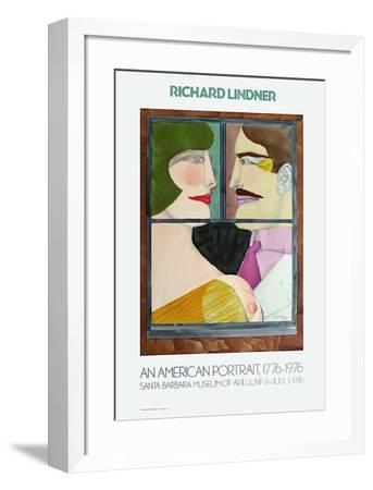 Expo Santa Barbara Museum-Richard Lindner-Framed Premium Edition