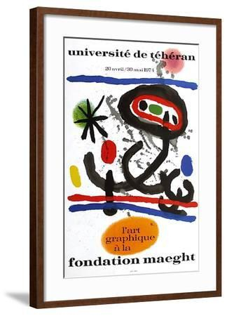 Expo 74 - Université De Téhéran-Joan Mir?-Framed Collectable Print