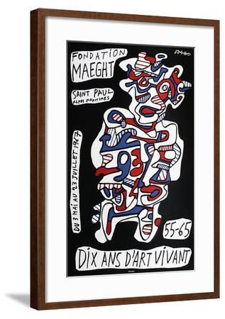 Expo Fondation Maeght-Jean Dubuffet-Framed Premium Edition