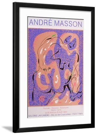 Expo Galerie Lahumière-Andr? Masson-Framed Collectable Print