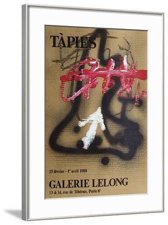 Expo Galerie Lelong 88-Antoni Tapies-Framed Collectable Print