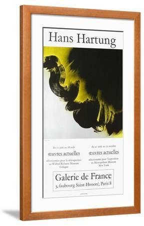 Expo Galerie De France-Hans Hartung-Framed Collectable Print