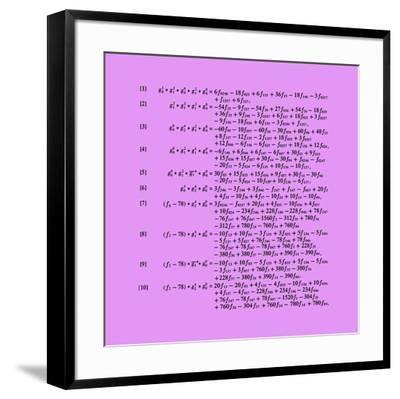 Planche mathématique 10-Bernar Venet-Framed Limited Edition