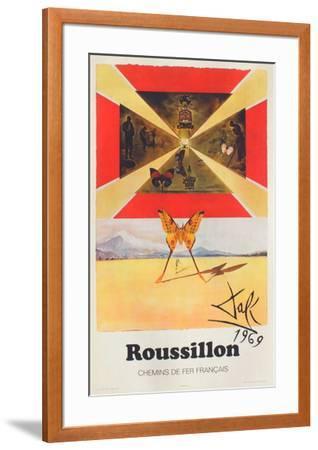 Affiches SNCF: Roussillon-Salvador Dal?-Framed Premium Edition