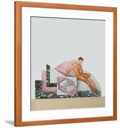 Projet de pendule de cheminée-Patrick Raynaud-Framed Limited Edition