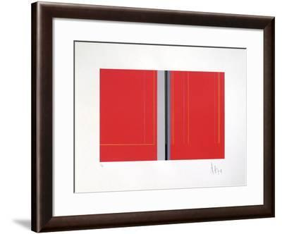 Composition Abstraite VII-Luc Peire-Framed Limited Edition