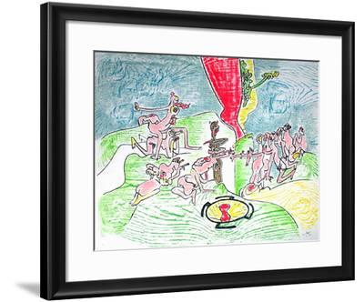 Le Veau D'Or-Roberto Matta-Framed Limited Edition