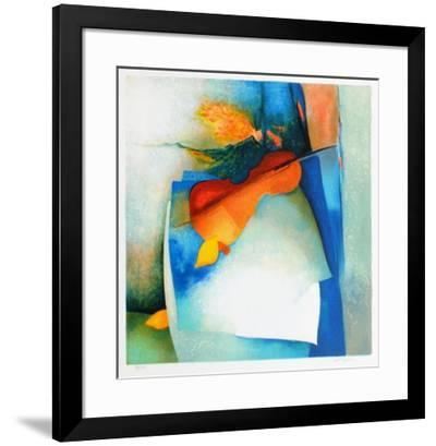 S - Nature Morte Au Violon II-Claude Gaveau-Framed Limited Edition