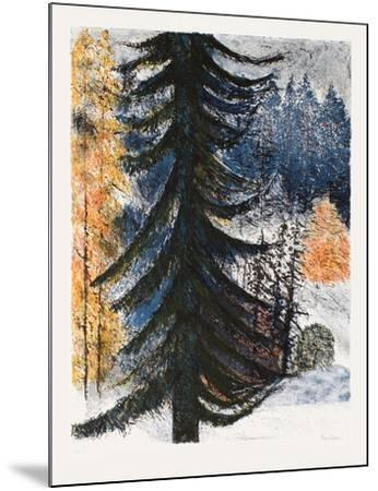 Le sapin solitaire-Guy Bardone-Mounted Limited Edition