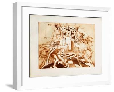 Le jeu du roi-Jean-marie Guiny-Framed Limited Edition