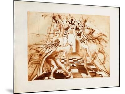 Le jeu du roi-Jean-marie Guiny-Mounted Limited Edition