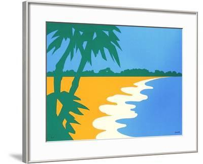 Paysage Tropical III-Jean Coulot-Framed Serigraph