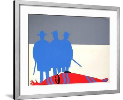 Les Indiens II-Jean Coulot-Framed Serigraph