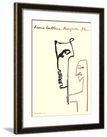 Festival D'Avignon 1992-Val?re Novarina-Framed Collectable Print