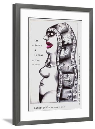 Les Acteurs À L'Écran-Andr? Fran?ois-Framed Collectable Print