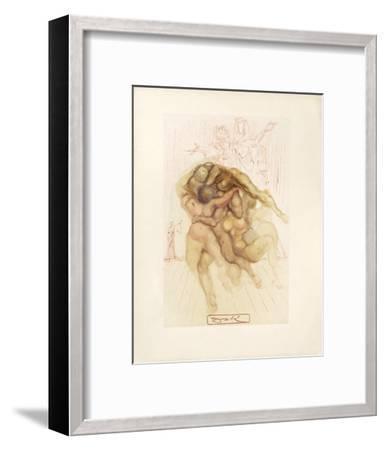 Divine Comedie, Enfer 08: Les Coléreux-Salvador Dal?-Framed Collectable Print